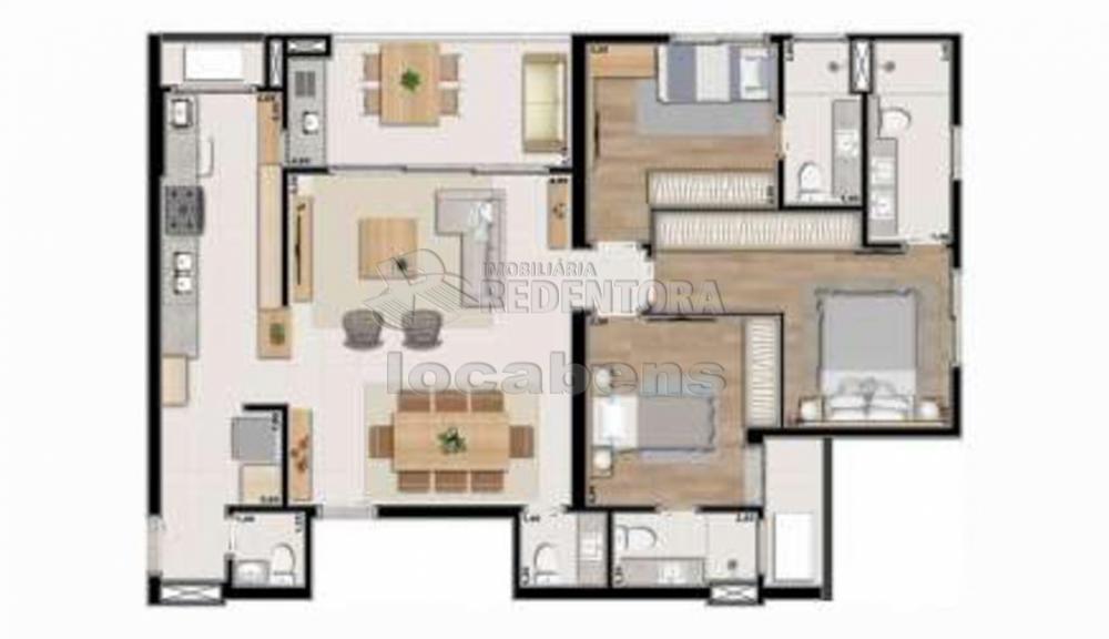 Sao Jose do Rio Preto Apartamento Venda R$968.000,00 3 Dormitorios 3 Suites Area construida 123.44m2